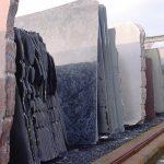 De graniet platen voorraad in Hoogkarspel